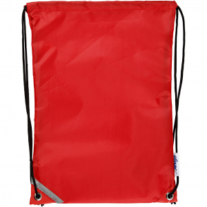 Creative backpack with pull closure 31 x 44 cm red