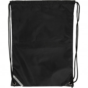 Creative backpack with drawstring 31 x 44 cm black