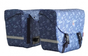 Cycle Tech bicycle bag Flora 2 x 19 litre polyester blue 2-piece