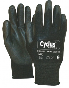 Cyclus work gloves black hand circumference 7