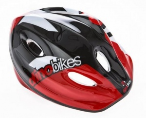 Dino cycling helmet Cascojunior 52-56 cm red/black