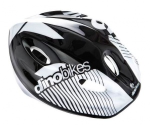 Dino cycling helmet junior 52-56 cm black/white