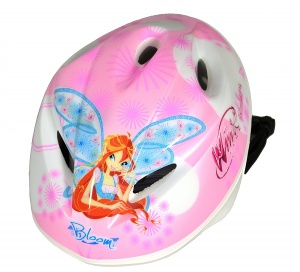 Dino bike helmet Winx Club girls pink