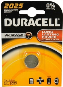 Duracell Professional Lithium knoopcel batterij CR2025 3V