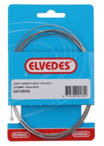 Elvedes derailleur inner cable 1,1 mm silver 2250 mm