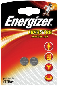 Energizer button cell battery LR43/186 Alkaline 1,5V 2 pieces