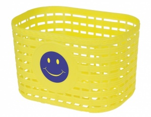 M-Wave fahrradkorb Smiley Junior 3,5 Liter gelb