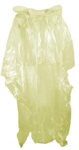 Free and Easy rainponcho unisex yellow one size