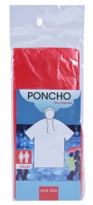 Free and Easy rainponcho unisex red one size