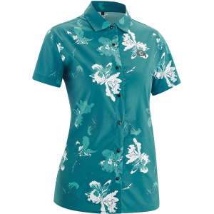 Gonso fietsblouse Tigia dames polyester groen/wit mt38