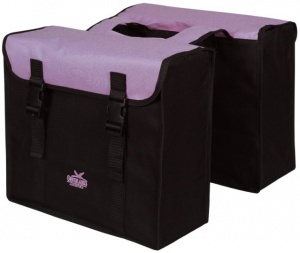 Greenlands double bicycle bag 34L black / purple