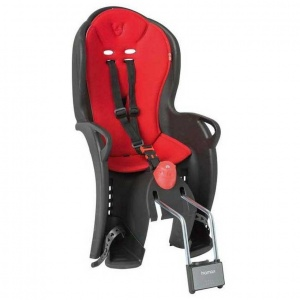 Hamax bicycle seat behind sleepy black with red cushion