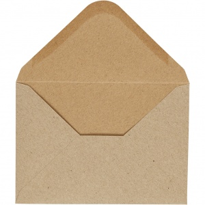 Happy Moments enveloppen 11,5 x 16 cm 10 stuks 110 g beige