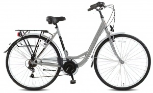 Highlander City 28 Inch Dames 6V V-Brake Zilver