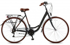 Highlander City 28 Inch Dames 6V V-Brake Zwart