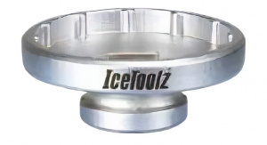 IceToolz trapassleutel 12T 50,4 mm T47 zilver