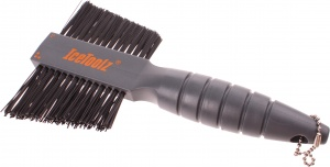 IceToolz two-fold cleaning brush 19.5 cm gray