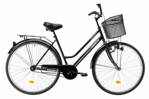 Kreativ City Women 28 Inch 50 cm Woman Coaster Brake Black