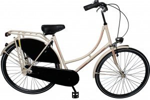 Leader City Retro 28 Inch Woman 3SP Coaster Brake Ivory white