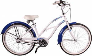 Leader Flora 26 Inch Dames 3V V-Brake Wit/Blauw