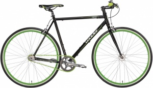 Leader Single Speed Hero 28 Inch Heren V-Brake Zwart