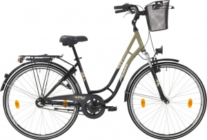 Leader Toury 28 Inch Woman 3SP Coaster Brake Grey/Black