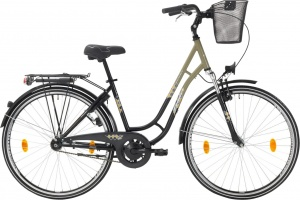 Leader Toury 28 Inch Woman Coaster Brake Grey/Black