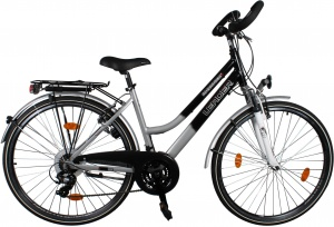 Leader Voyager 28 Inch Woman 21SP Rim Brakes Black/Silver