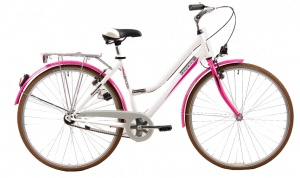 Leader Voyager 28 Inch Dames V-Brake Wit/Roze