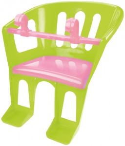 Lena doll's seat 23 x 23 x 27 cm green/pink