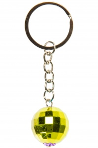 LG-Imports key ring disco ball 2 cm gold