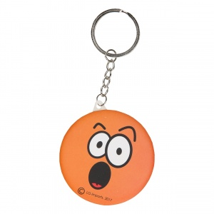 LG-Imports key ring emoji with mirror orange 6 cm