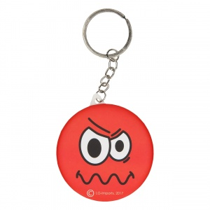 LG-Imports key ring emoji with mirror red 6 cm