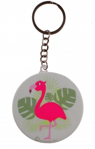LG-Imports keychain flamingo with mirror green 5,8 cm