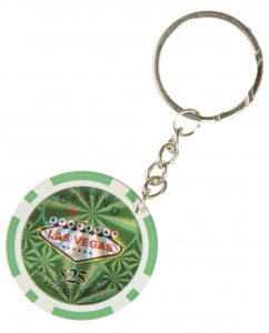 LG-Imports keychain poker chip 100 green