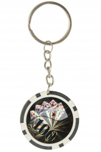 LG-Imports keychain poker chip 25 black