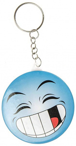 LG-Imports key ring smiley junior 5,8 cm blue