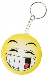 LG-Imports key ring smiley junior 5,8 cm yellow