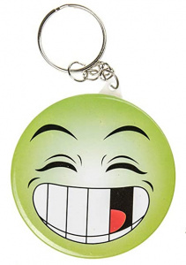 LG-Imports key ring smiley junior 5,8 cm green