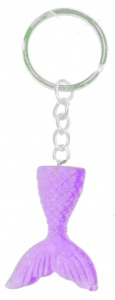 LG-Imports key ring mermaid tail 4 cm purple