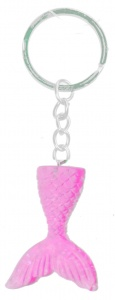 LG-Imports key ring mermaid tail 4 cm pink