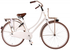 Little Diva omafiets-S1 26 Inch 43 cm Girls Coaster Brake White/Bronze