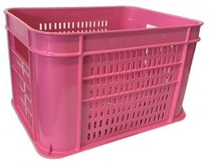 Lynx bicycle crate 30 litres plastic pink