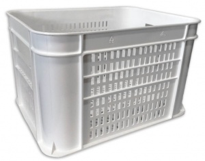 Lynx bicycle crate plastic 30 litres white