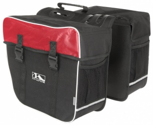 M-Wave double bicycle bag Amsterdam 30L red