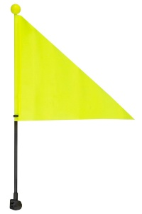 M-Wave safety flag 38 cm yellow