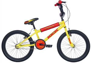 Magic BMX Kick 16 pouces 25,4 cm Junior Frein à serrer Jaune/Rouge