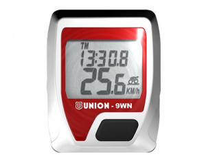 Union bike 9WNcomputer wireless red/silver 9 functions
