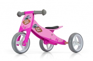 Milly Mally 2-in-1 loopfiets Jake cowgirl Mädchen Rosa