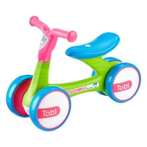 Milly Mally Loopfiets Tobi Junior Groen/Roze